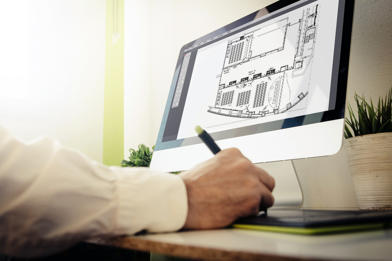 architect designing a house. All screen graphics are made up.