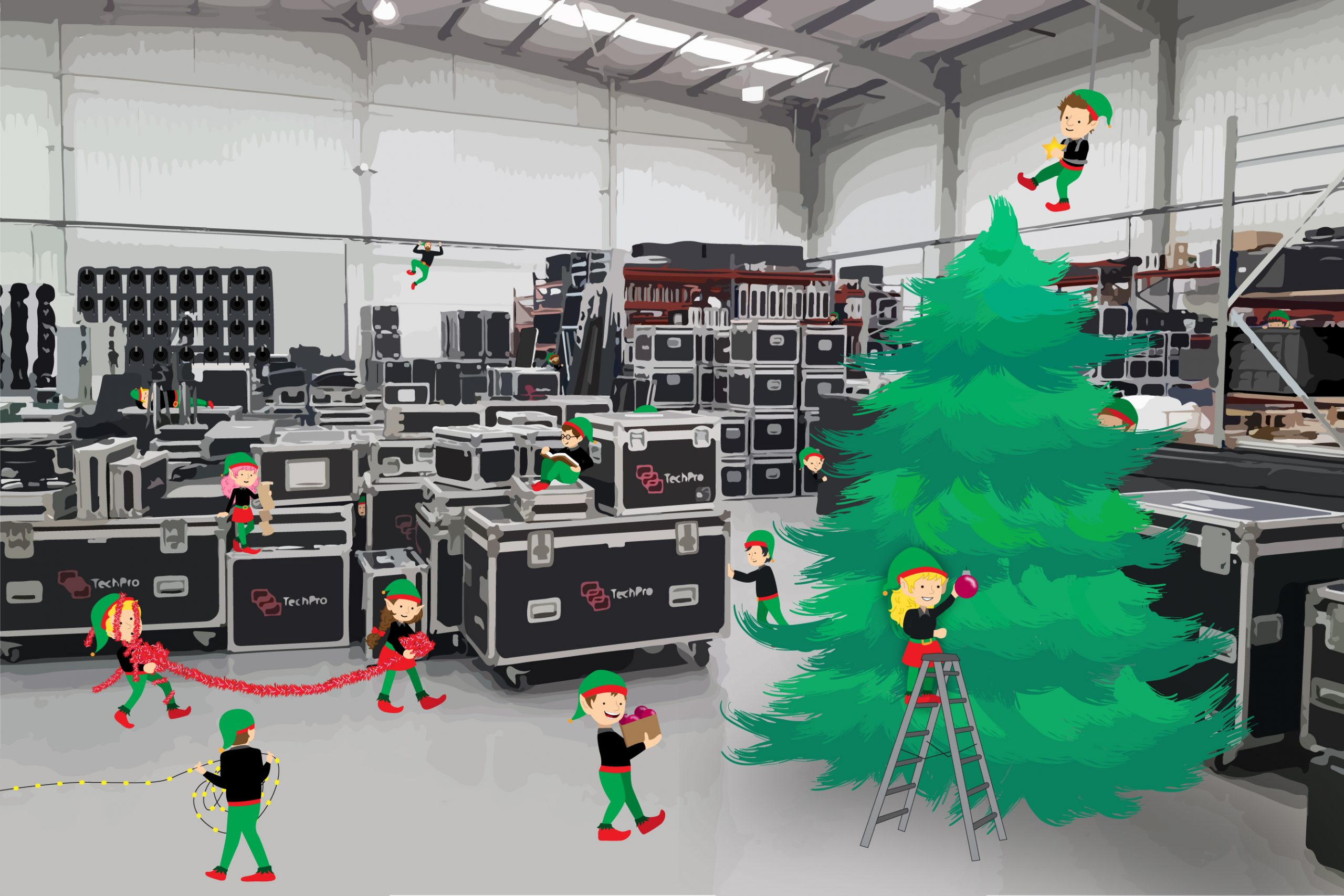 TechPro Christmas Warehouse 01